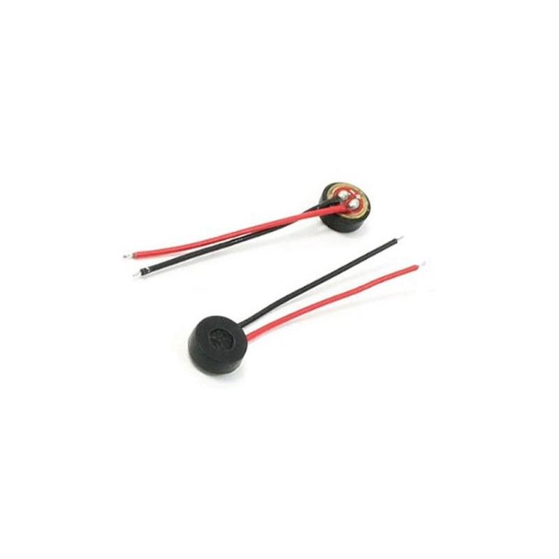 2pz Microfono condensatore a capsula microfonica MIC 4x1,5mm 2V con fili saldati