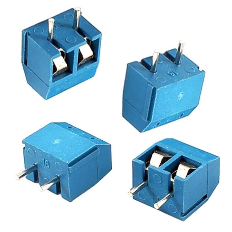 10 pezzi Morsettiera morsetti a 2 poli  connettori PCB screws terminal blocks