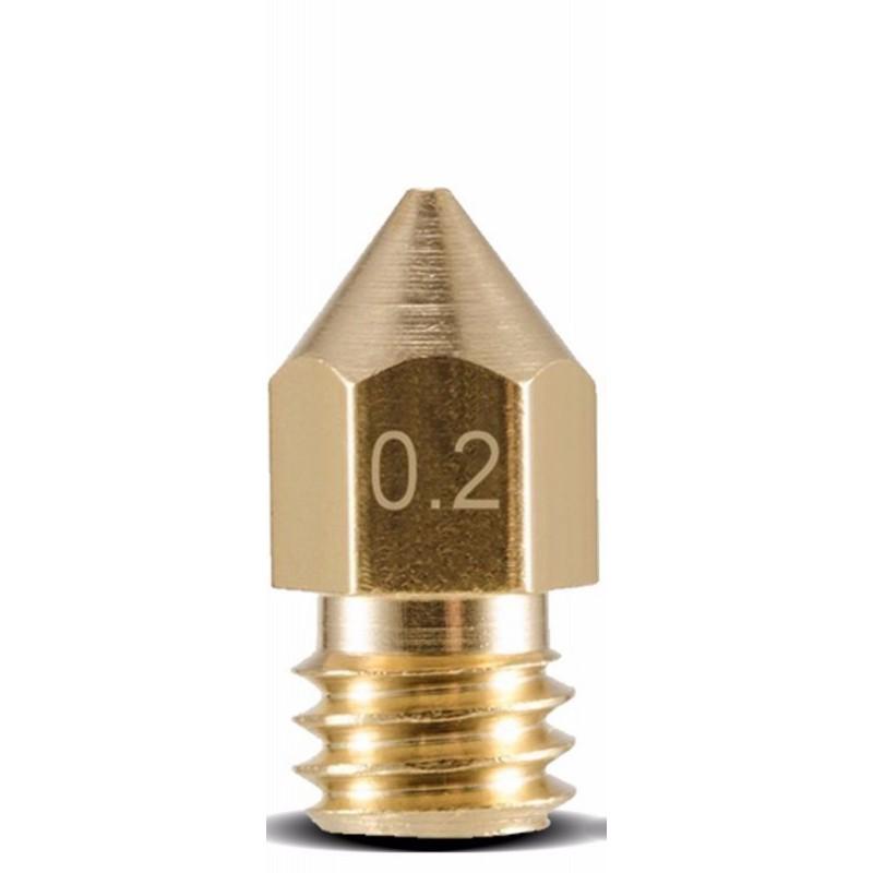 Ugello estrusore in ottone 0,2mm M6 6mm per Reprap Stampante 3D MK8 MK7 Makerbot