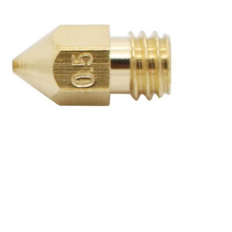 Ugello estrusore in ottone 0,5mm M6 per stampante 3D prusa reprap MK7 makerbot