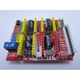 Scheda espansione shield arduino uno per cnc stampanti 3d driver A4988 DRV8825