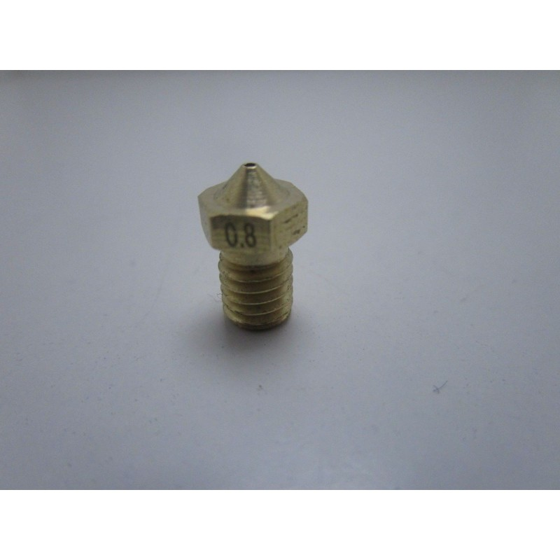 Ugello nozzle V6 da 0,8mm ED3V6 M6 8mm per estrusore 1,75mm stampante 3D