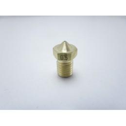 Ugello estrusore nozzle 0.5mm M6 E3DV6 per filamento 1.75mm RepRap stampante 3D