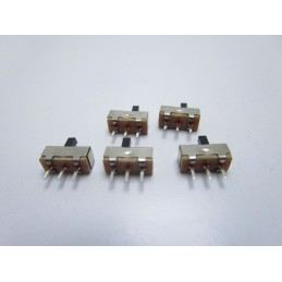5pz Mini slide switch interruttore on off a scorrimento verticale SS12D00G3 3mm