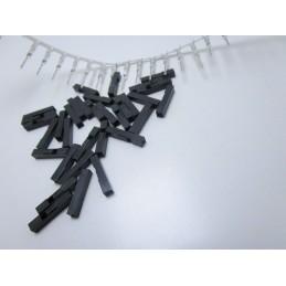 20pz Terminali passo 2,54mm con contatto a saldare per ponticelli cavetti m-m