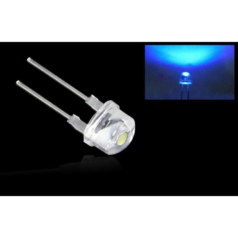 10 pezzi Diodo diodi led blu 8mm 3000MCD 3V-3,2V alta luminosità e basso consumo