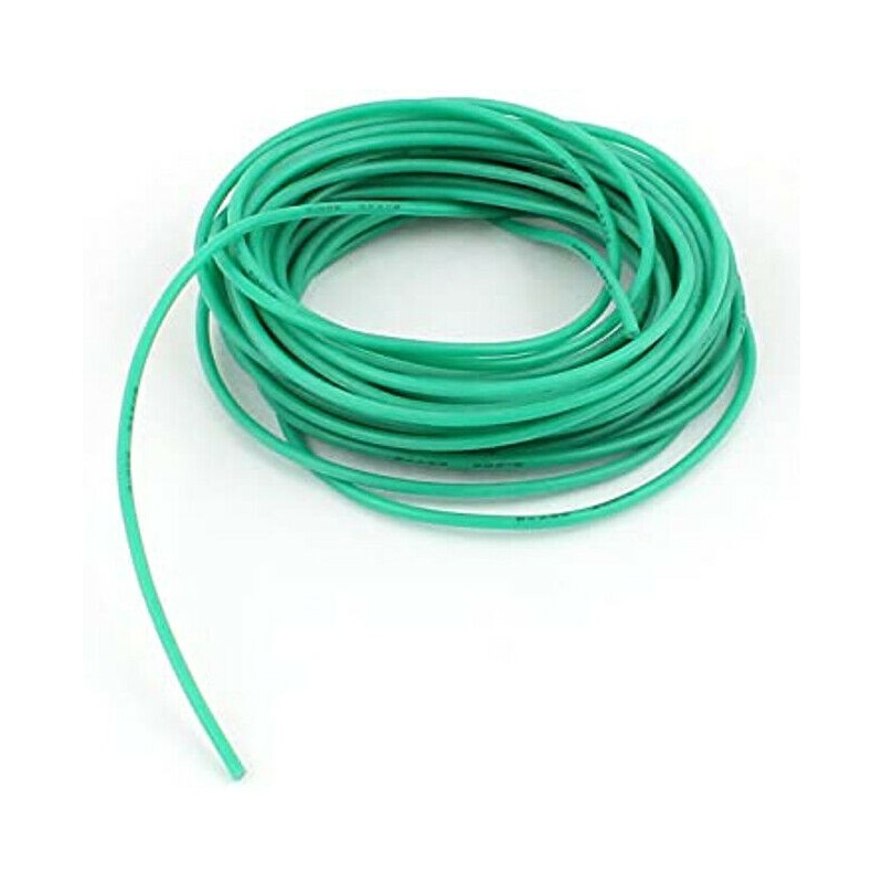 Filo cavo elettrico unipolare UL-1007 24AWG Verde 80°C 300V 10 metri