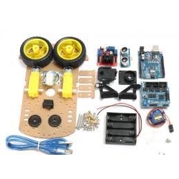 Kit arduino robot 2 ruote completo con piattaforma sensori shield