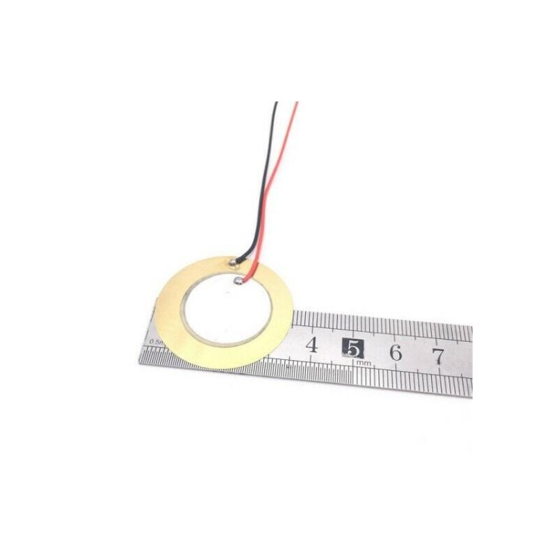 2pz Piezoelettrico piezo cicalino buzzer 35mm a disco ceramico in rame con fili