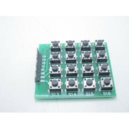 Tastiera mcu 4x4 a matrice con 16 mini pulsanti 6x6x5mm 39x43mm per arduino