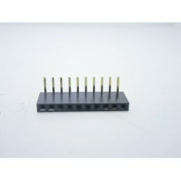 5 pz Strip line stripline connettori femmina 8 poli pin 1x8 passo 2,54mm