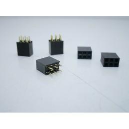 5pz Strip line stripline connettore 2x3 6 pinpasso 2,54mm due file per arduino