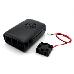 Kit contenitore case abs per Raspberry Pi 3 tipo B con radiatore e ventola 5v
