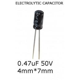 10x Condensatore Elettrolitico radiale Capacità 0.47μF (470nF ) 50V 4mm*7mm 85°C