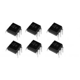 6 pezzi integrato optoisolatore 4N35 fotoaccoppiatore optocoupler EL4N35 a 6 pin