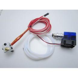 Kit estrusore V6 0.4mm per filamento 1.75mm fan 30mm 12V stampante 3D Reprap MK8