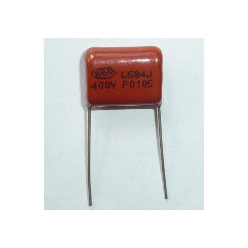 Condensatore a film CBB poliestere L684J 400V 0.68uF P15 CL21 per elettronica