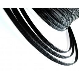 Guaina nera manica intrecciata Ø 8 m pet in nylon da 1 metro raccogli cavi