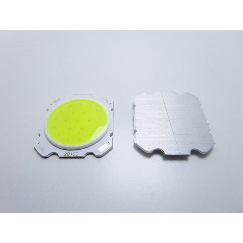 Chip led cob round 10W watt 2B10C luce bianco freddo 32v 260mAH per faretti fari