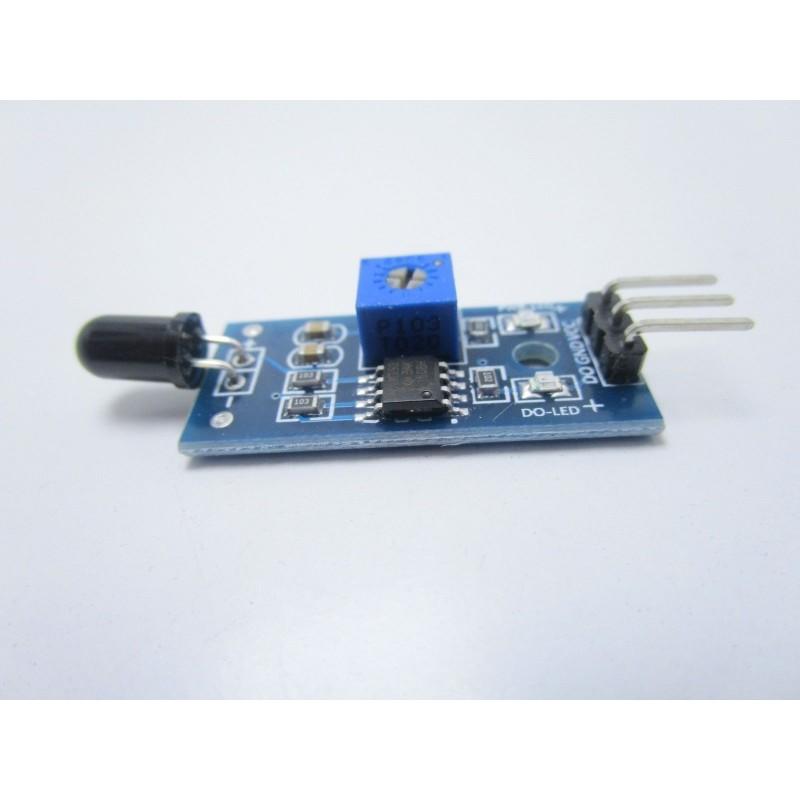 Sensore di rilevamento fiamma incendio 760nm-1100nm 3pin con lm393 per arduino