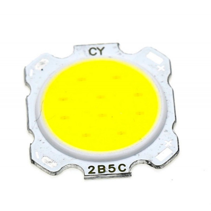 Chip led cob round 5w watt bianco caldo 17V 2B5C 100LM/W 260mAh diametro 28mm