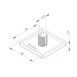 10pz tappo 20x20mm profilato estruso profilo in alluminio 2020 stampante 3D cnc