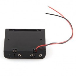 Portabatterie contenitore con fili per batterie 4 stilo tipo AA senza coperchio