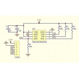 BMP280 Sensore digitale di pressione barometrica temperatura atmosferica Arduino