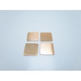 4pz Pad termico termoconduttivo in rame 15mmx15mmx0,5mm per chipset vga cpu gpu