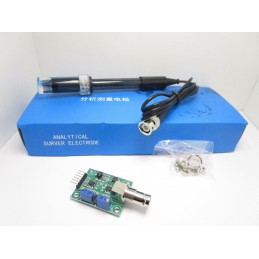 Misuratore sensore di rilevamento PH liquidi da 0 a 14 con sonda e modulo bnc