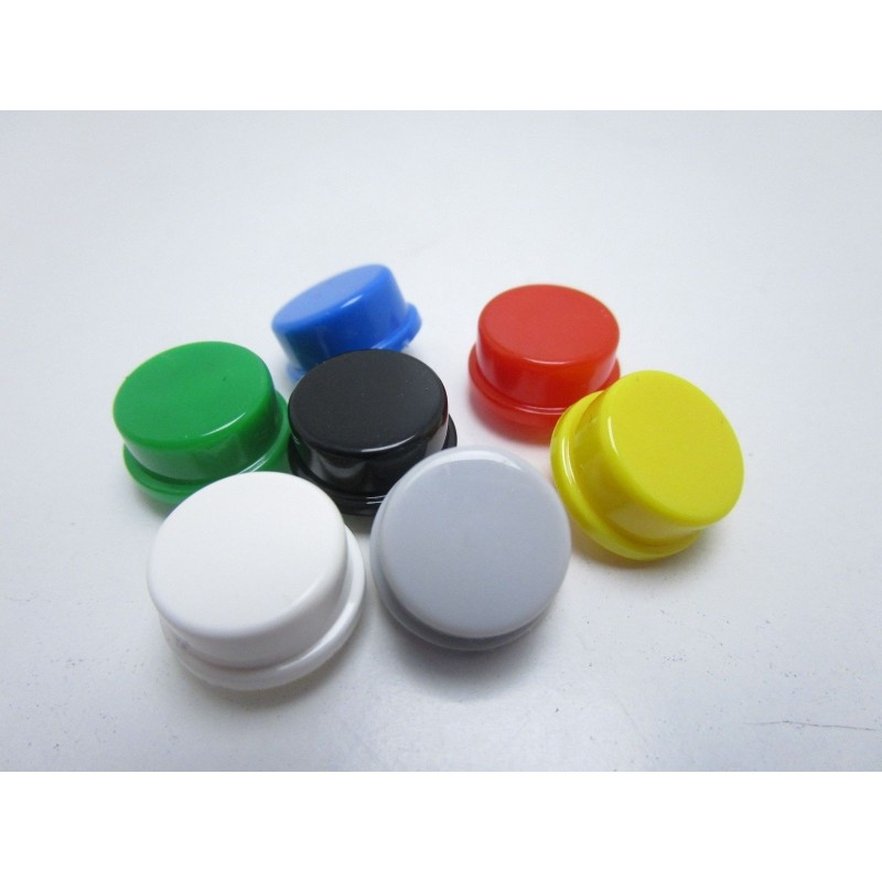 7pz Cappucci colorati per pulsante tattile touch 12mmx12mmx7.3mm button caps per