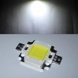 Chip power led 10w watt 12V luce bianco freddo per ricambio fari alta luminosità