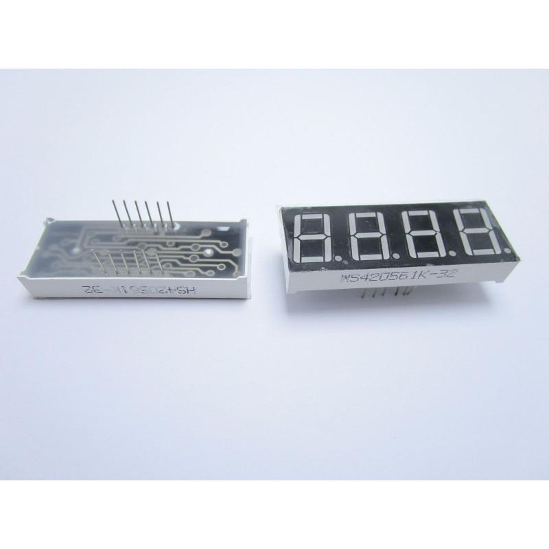 Modulo display a 7 segmenti catodo HS420561K-32 con 4 cifre per arduino fai da t