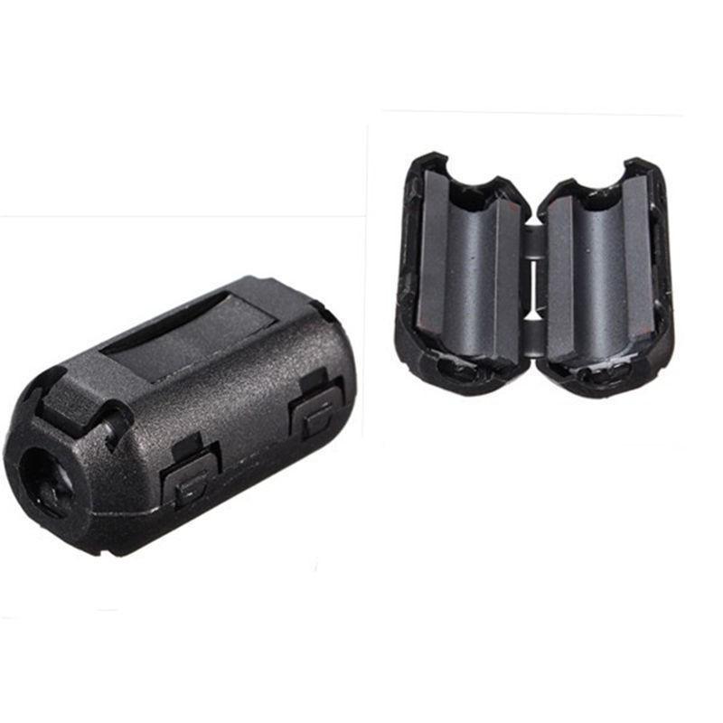 1pz filtro in ferrite a clip per cavi fino a 5mm clip EMI RFI anti interferenze