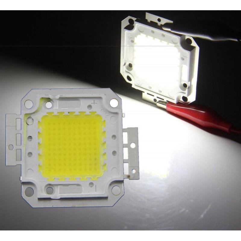 Chip power LED 100w watt luce bianco freddo 36v 6500K per ricambio faro esterno