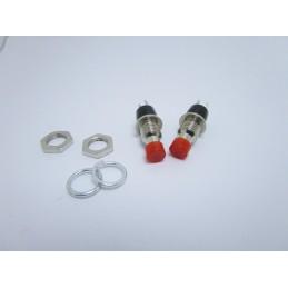 2pz Pulsante da panello on /off con tasto rosso normalmente aperto spst 250V
