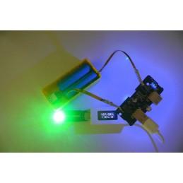 Circuito power bank step-up 2 USB 5V 1A micro usb e led per celle 18650 e lipo