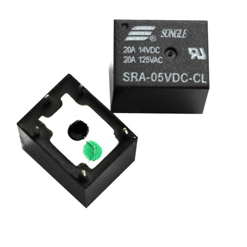 Modulo Relè Songle Relay SRA-05VDC-CL DIP5 20A 5V 14vdc 125vac 5 pin