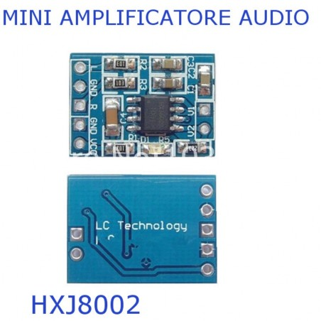 Modulo chip HXJ8002 mini amplificatore audio microfono mini power amplifier BTL