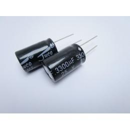 2pz Condensatore elettrolitico verticale condensatori 3300µF 25v 105°c 16x25
