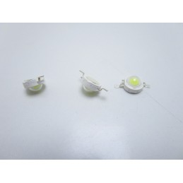 3pz Chip diodo led 1w watt epistar bianco freddo 3V 120lm 350mA per faretti fari