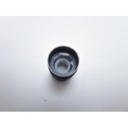 Manopola in alluminio nero per potenziometro albero Ø 6 mm 16x14