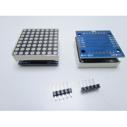 Display led a matrice 8x8 5v con mcu dot microcontrollore max7219 per arduino