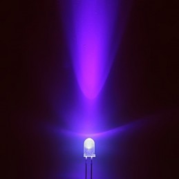 5 Led uv 5mm 3,2v purple viola emettitore ad alta luminosita' 2000 mcd