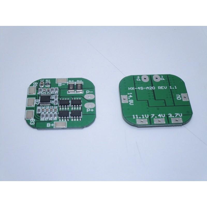 Circuito di protezione ricarica BMS PCM per 4S celle 20A da 3.7v a 14,8v 18650