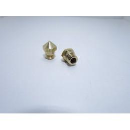 Ugello estrusore in ottone 0.6mm MK10 con filettatura M7 per filamento 1.75mm