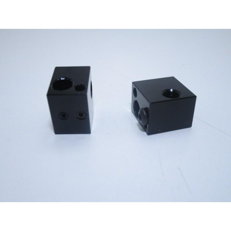 Blocco in alluminio per estrusore ugello V5 stampante 3D Makerbot MK7 16x16x12mm