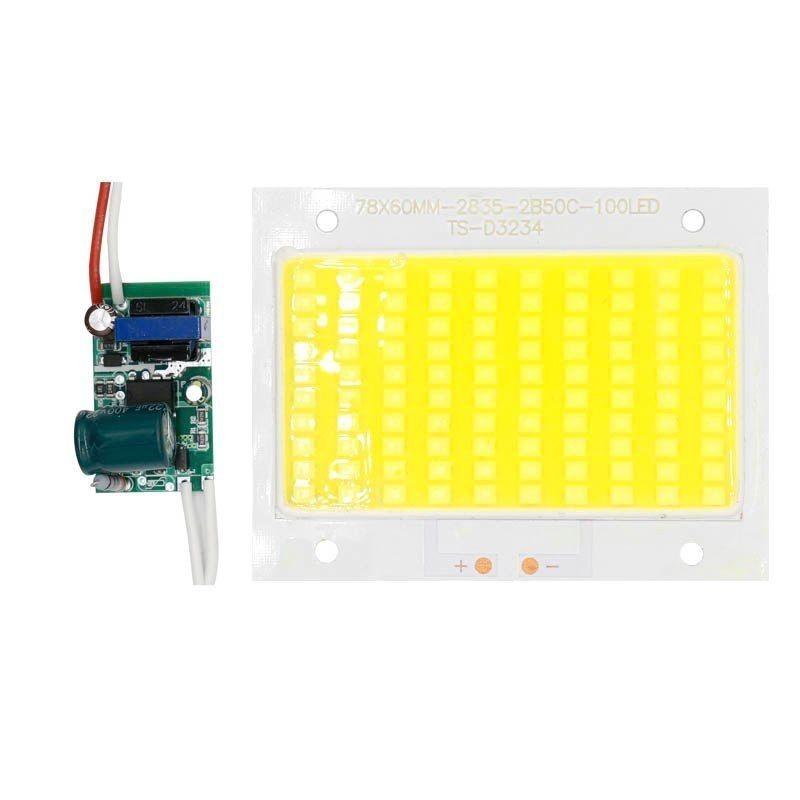 Chip led 50w SMD 2835 300mAh con driver 260v per faretti esterni alta luminosità