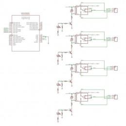 Scheda di espansione a 4 ch canali relè 5v shield relay TE315 per arduino
