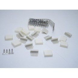 Kit connettori JST-HX 6 pin maschio e femmina passo 2.54mm per lipo ventole